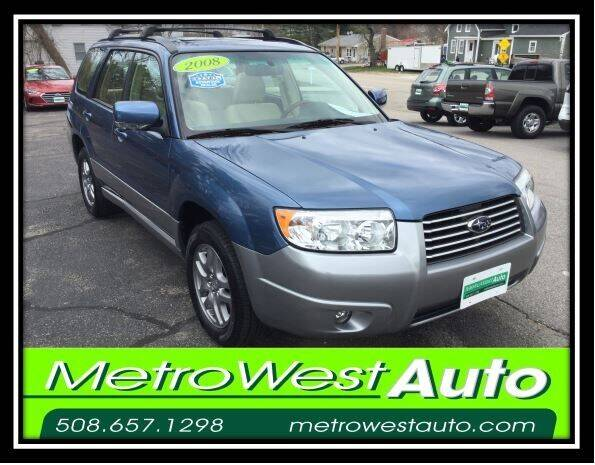 2008 Subaru Forester for sale at Metro West Auto in Bellingham MA