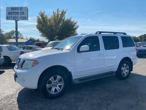2009 Nissan Pathfinder for sale at Dave-O Motor Co. in Haltom City TX