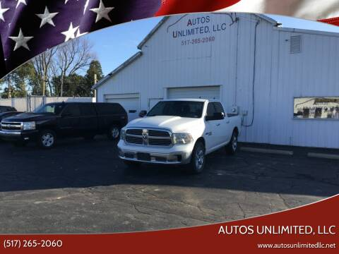 2016 RAM Ram Pickup 1500 for sale at Autos Unlimited, LLC in Adrian MI