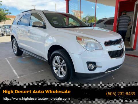 2012 Chevrolet Equinox for sale at High Desert Auto Wholesale in Albuquerque NM