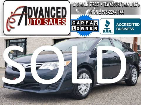 2014 Toyota Camry for sale at Advanced Auto Sales in Dracut MA