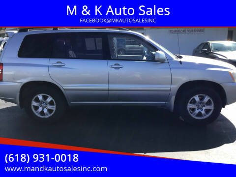 2002 Toyota Highlander for sale at M & K Auto Sales in Granite City IL