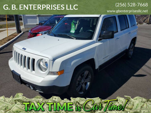 2015 Jeep Patriot for sale at G. B. ENTERPRISES LLC in Crossville AL