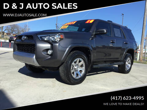 2014 Toyota 4Runner for sale at D & J AUTO SALES in Joplin MO