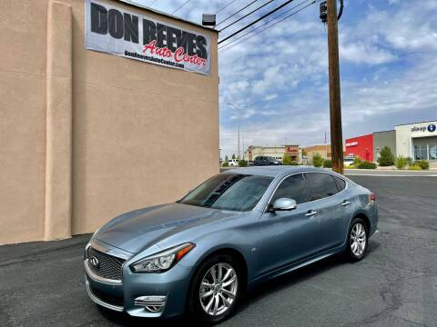 2018 Infiniti Q70 for sale at Don Reeves Auto Center in Farmington NM