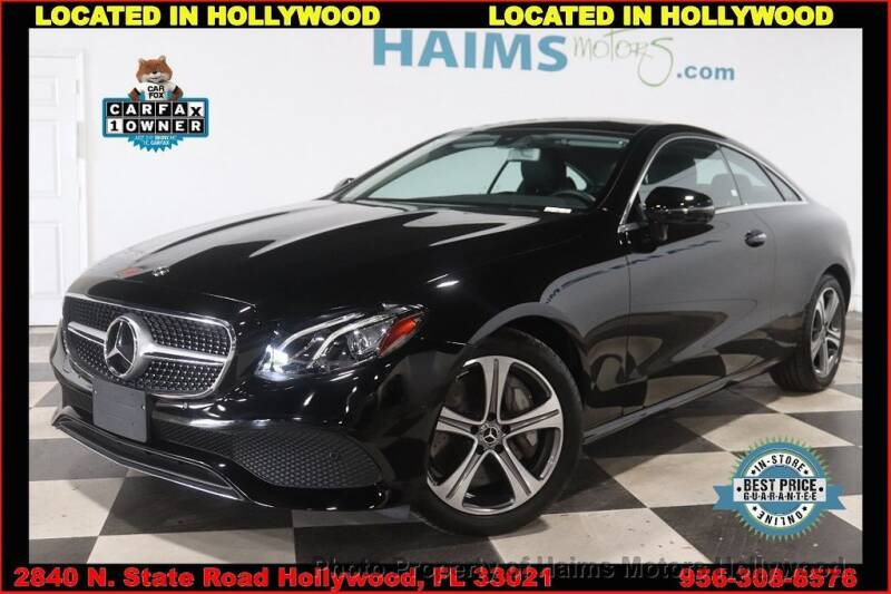 2018 Mercedes-Benz E-Class for sale in Hollywood, FL