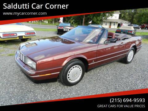 1987 Cadillac Allante for sale at Saldutti Car Corner in Gilbertsville PA