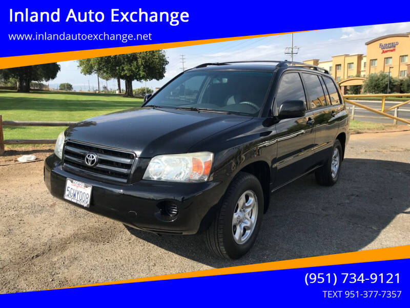2004 Toyota Highlander for sale at Inland Auto Exchange in Norco CA