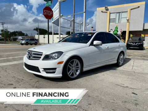 2013 Mercedes-Benz C-Class for sale at Global Auto Sales USA in Miami FL