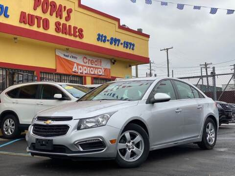 2015 Chevrolet Cruze for sale at Popas Auto Sales in Detroit MI