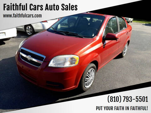 2010 Chevrolet Aveo for sale at Faithful Cars Auto Sales in North Branch MI