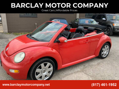 2003 Volkswagen New Beetle Convertible for sale at BARCLAY MOTOR COMPANY in Arlington TX