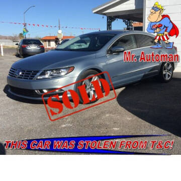 2013 Volkswagen CC for sale at TOWN & COUNTRY AUTO SALES in Overton NV