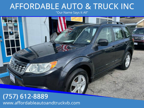 2012 Subaru Forester for sale at AFFORDABLE AUTO & TRUCK INC in Virginia Beach VA