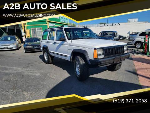 1992 Jeep Cherokee for sale at A2B AUTO SALES in Chula Vista CA