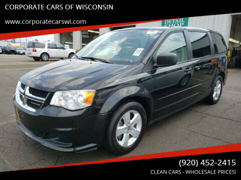 2013 Dodge Grand Caravan for sale at CORPORATE CARS OF WISCONSIN in Sheboygan WI