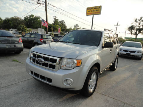 2010 Ford Escape for sale at GREAT VALUE MOTORS in Jacksonville FL