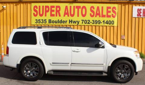 2015 Nissan Armada for sale at Super Auto Sales in Las Vegas NV