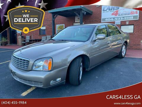 2001 Cadillac DeVille for sale at Cars4Less GA in Alpharetta GA
