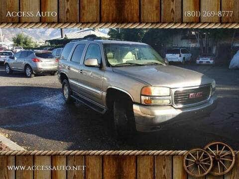 2002 GMC Yukon for sale at Access Auto in Salt Lake City UT