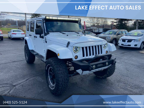 2014 Jeep Wrangler Unlimited for sale at Lake Effect Auto Sales in Chardon OH