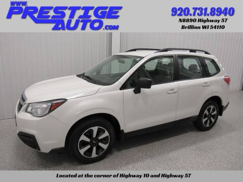 2018 Subaru Forester for sale at Prestige Auto Sales in Brillion WI