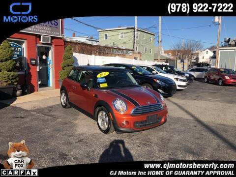 2011 MINI Cooper for sale at CJ Motors Inc. in Beverly MA
