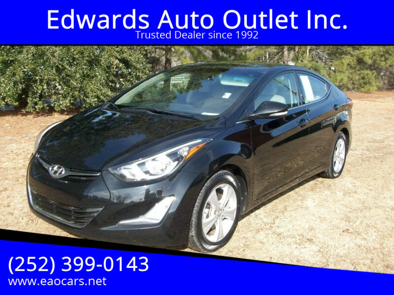 2016 Hyundai Elantra for sale at Edwards Auto Outlet Inc. in Wilson NC