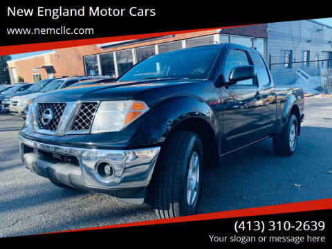 2007 Nissan Frontier for sale at New England Motor Cars in Springfield MA
