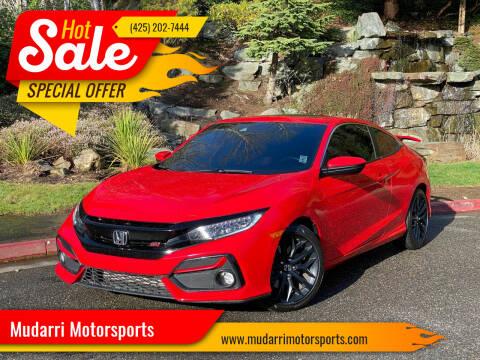 2020 Honda Civic for sale at Mudarri Motorsports in Kirkland WA