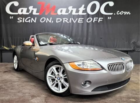 2003 BMW Z4 for sale at CarMart OC in Costa Mesa, Orange County CA