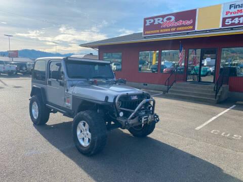 2000 Jeep Wrangler for sale at Pro Motors in Roseburg OR