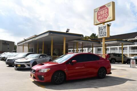 2015 Subaru WRX for sale at Houston Used Auto Sales in Houston TX