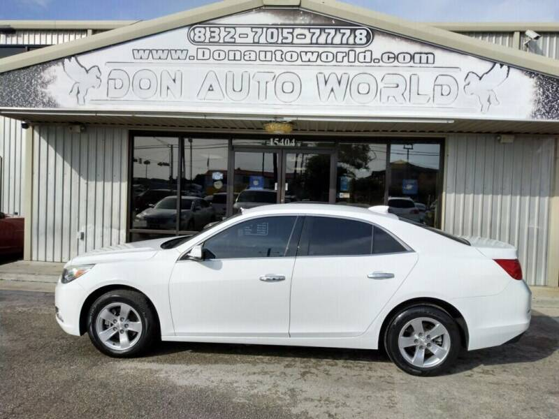 2016 Chevrolet Malibu Limited for sale at Don Auto World in Houston TX