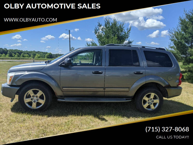 2006 Dodge Durango for sale at OLBY AUTOMOTIVE SALES in Frederic WI