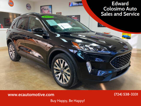 2020 Ford Escape for sale at Edward Colosimo Auto Sales and Service in Evans City PA