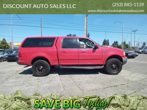 2001 Ford F-150 for sale at DISCOUNT AUTO SALES LLC in Spanaway WA