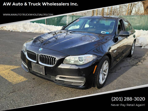 2014 BMW 5 Series for sale at AW Auto & Truck Wholesalers  Inc. in Hasbrouck Heights NJ