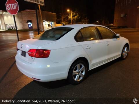 2012 Volkswagen Jetta for sale at MEANS SALES & SERVICE in Warren PA