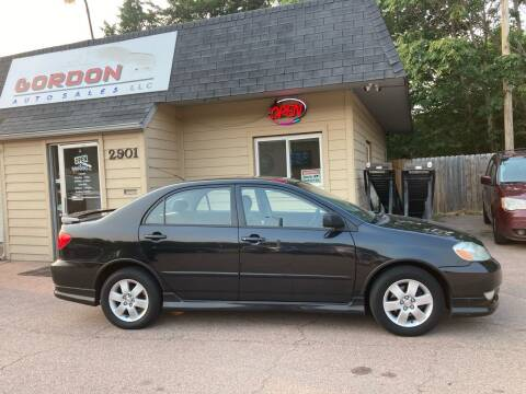 2003 Toyota Corolla for sale at Gordon Auto Sales LLC in Sioux City IA