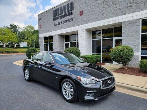 2018 Infiniti Q50 for sale at Weaver Motorsports Inc in Cary NC