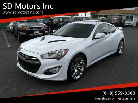 2016 Hyundai Genesis Coupe for sale at SD Motors Inc in La Mesa CA