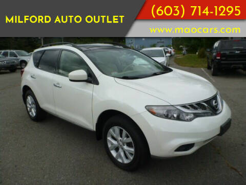 2012 Nissan Murano for sale at Milford Auto Outlet in Milford NH