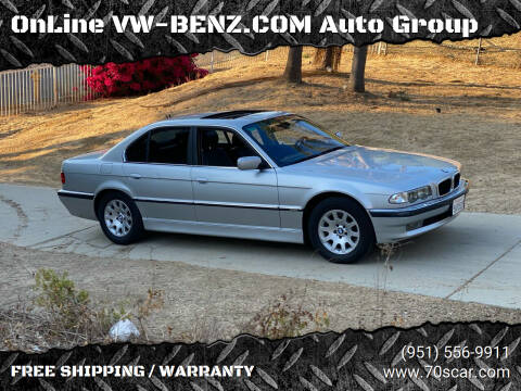 2001 BMW 7 Series for sale at OnLine VW-BENZ.COM Auto Group in Riverside CA