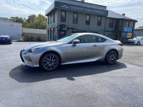 2017 Lexus RC 350 for sale at Sisson Pre-Owned in Uniontown PA