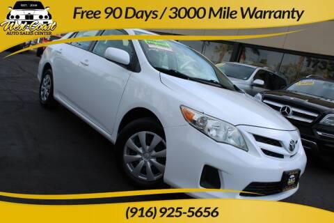 2011 Toyota Corolla for sale at West Coast Auto Sales Center in Sacramento CA