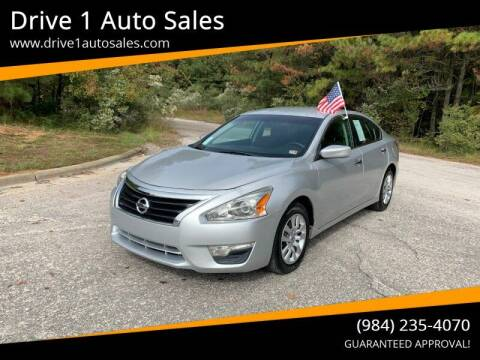 2015 Nissan Altima for sale at Drive 1 Auto Sales in Wake Forest NC