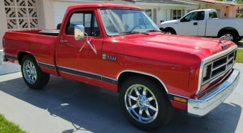 1987 Dodge D100 Pickup for sale at Classic Car Deals in Cadillac MI