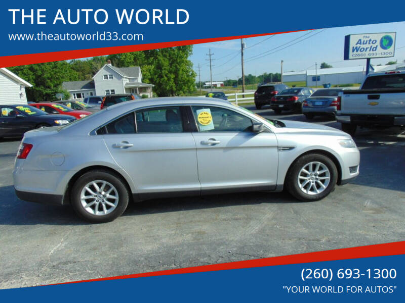 2013 Ford Taurus for sale at THE AUTO WORLD in Churubusco IN