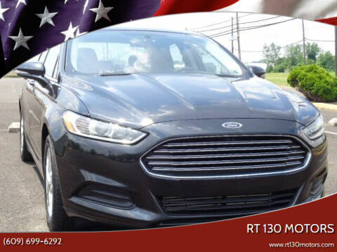 2013 Ford Fusion for sale at RT 130 Motors in Burlington NJ